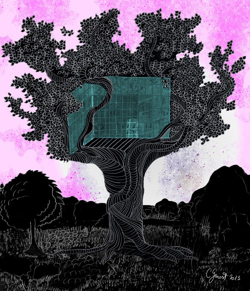 Une serre dans un arbre