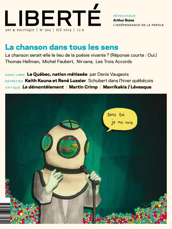 Illustration de la couverture de la Revue Liberté #304