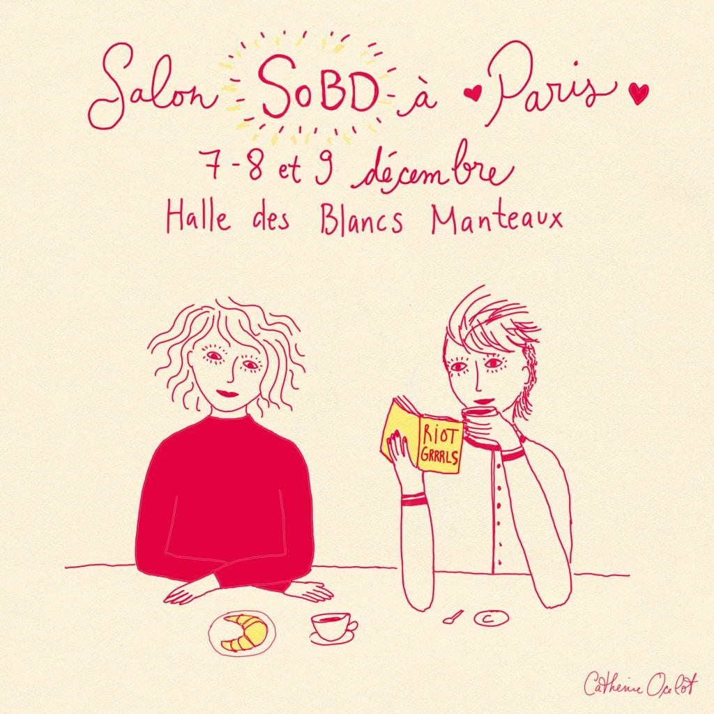 Catherine Ocelot et Julie Delporte au Salon SoBD