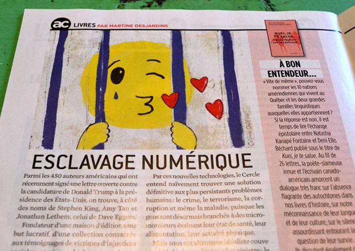 Catherine Ocelot illustration pour l'Actualite